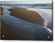Hatteras Tidal Pools Acrylic Print by Steven Ainsworth
