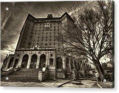 Haunted Baker Hotel Acrylic Print by Jonathan Davison