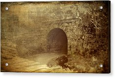 Haunted Tunnel Acrylic Print by Kathy Jennings