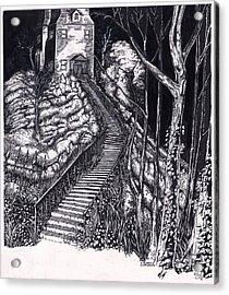 Haunted_house_on_a_hill_2 Acrylic Print by Joseph Capuana