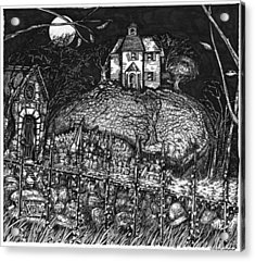 Haunted_house_on_hill_1 Acrylic Print by Joseph Capuana