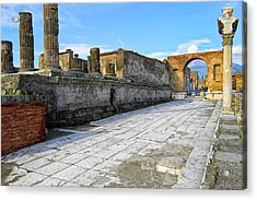 Haunting Ruins Of Ancient Pompeii Acrylic Print by Mark E Tisdale