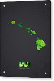 Hawaii The Islands Of Aloha Acrylic Print by Aged Pixel