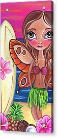 Hawaiian Fairy Acrylic Print by Jaz Higgins