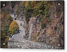 Hawk's Nest In The Fall Acrylic Print by Eduard Moldoveanu