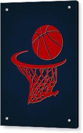 Hawks Team Hoop2 Acrylic Print by Joe Hamilton