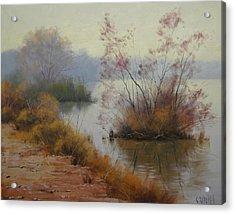 Hawksbury River Painting Acrylic Print by Graham Gercken