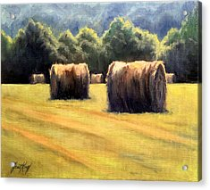 Hay Bales Acrylic Print by Janet King