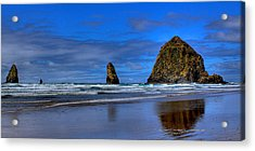 Haystack Rock And The Needles IIi Acrylic Print by David Patterson
