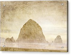 Haystack Rock Acrylic Print by Carol Leigh