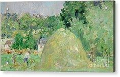 Haystacks At Bougival Acrylic Print by Berthe Morisot