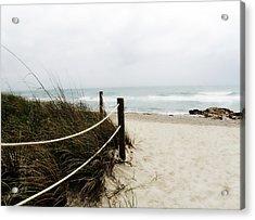 Hazy Beach Day Acrylic Print by Julie Palencia