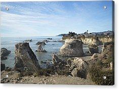 Hazy Lazy Day Pismo Beach California Acrylic Print by Barbara Snyder