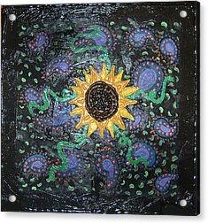 Hazy Paisley  Acrylic Print by Yvonne  Kroupa