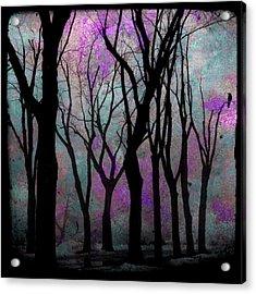 Hazy Purple Acrylic Print by Gothicolors Donna