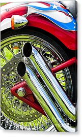 Hd Custom Drag Pipes Acrylic Print by Tim Gainey