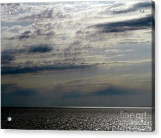 Hdr Storm Over The Water  Acrylic Print by Joseph Baril