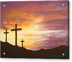 He Is Risen Acrylic Print by Marna Edwards Flavell