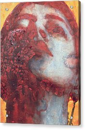 Head Acrylic Print by Graham Dean