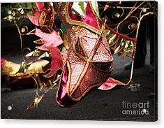 Head Of A Dragon At Leeds Carnival Acrylic Print by Deborah Benbrook