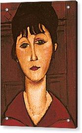Head Of A Girl Acrylic Print by Amedeo Modigliani