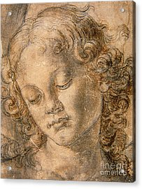 Head Of An Angel Acrylic Print by Andrea del Verrocchio