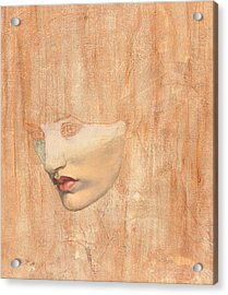Head Of Proserpine Acrylic Print by Dante Gabriel Charles Rossetti