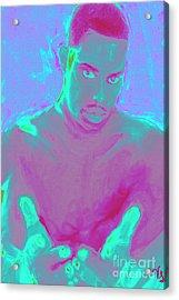Heal My Blues Acrylic Print by Vannetta Ferguson