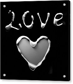 Heart And Love Acrylic Print by Gina Dsgn