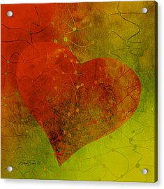 Heart Connections Three Acrylic Print by Ann Powell