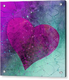 Heart Connections Two Acrylic Print by Ann Powell