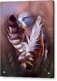Heart Of A Hawk Acrylic Print by Carol Cavalaris