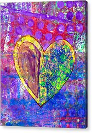 Heart Of Hearts Series - Discovery Acrylic Print by Moon Stumpp