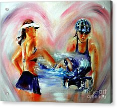 Heart Of The Triathlete Acrylic Print by Sandy Ryan