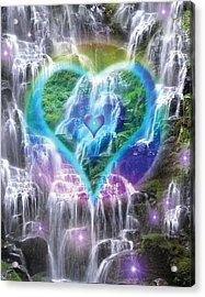 Heart Of Waterfalls Acrylic Print by Alixandra Mullins