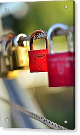 Heart On The Padlock Acrylic Print by Gynt