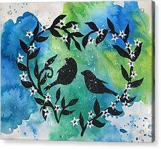 Heart Tree Acrylic Print by Cathy Jacobs