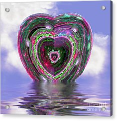 Heart Up Acrylic Print by Dee Flouton