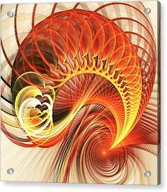Heart Wave Acrylic Print by Anastasiya Malakhova