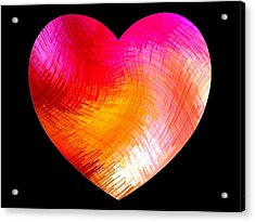 Heartline 6 Acrylic Print by Will Borden