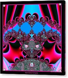 Hearts Ballet Curtain Call Fractal 121 Acrylic Print by Rose Santuci-Sofranko