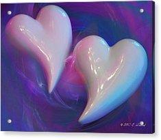 Hearts In A Vortex Acrylic Print by Elizabeth S Zulauf