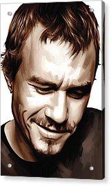 Heath Ledger Artwork Acrylic Print by Sheraz A