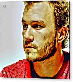 Heath Ledger Portrait Acrylic Print by Florian Rodarte