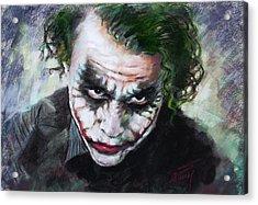 Heath Ledger The Dark Knight Acrylic Print by Viola El