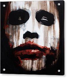 Heath Ledger Why So Serious Acrylic Print by Brad Jensen