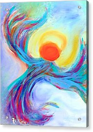 Heaven Sent Digital Art Painting Acrylic Print by Robyn King