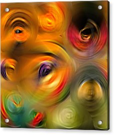 Heaven's Eyes - Abstract Art By Sharon Cummings Acrylic Print by Sharon Cummings