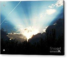 Heavens Light Acrylic Print by Judy Via-Wolff