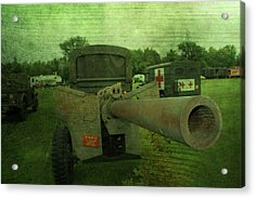 Heavy Artillery In World War 2 Acrylic Print by Dan Sproul